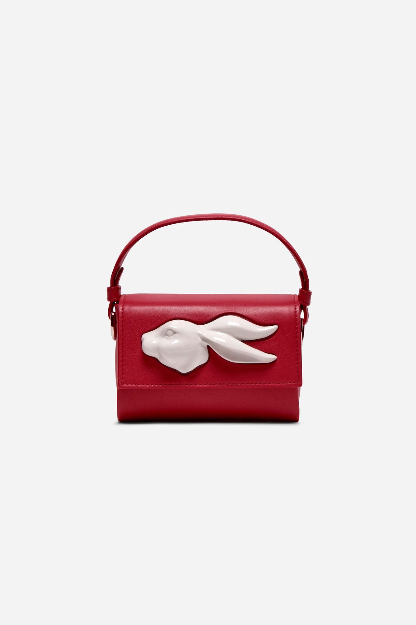 Flap Mini Rabbit Head Bag Tomato