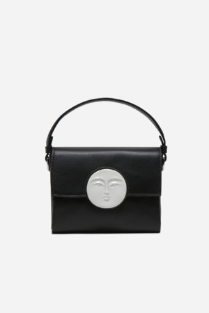 Flap Moon Bag Black