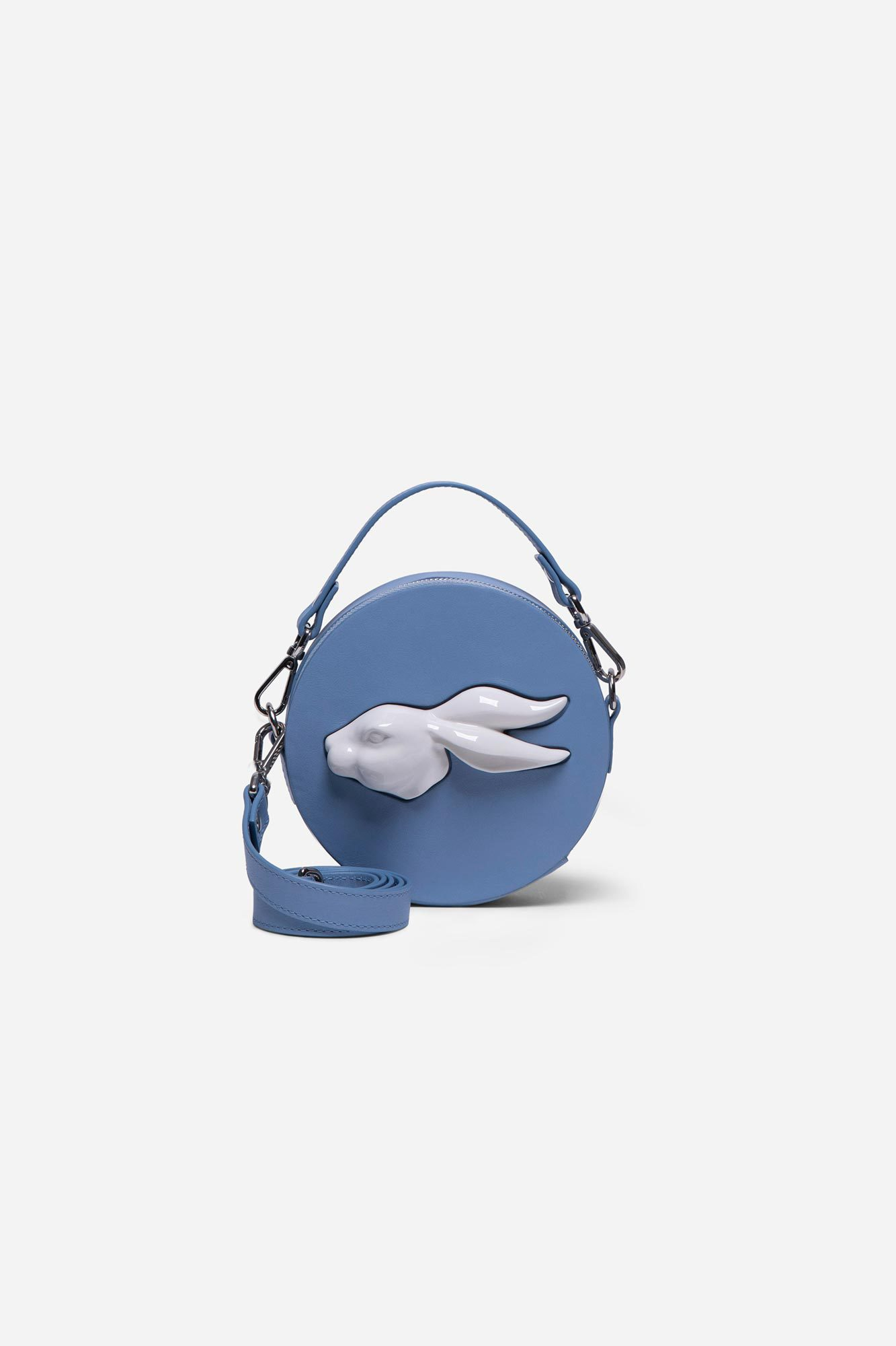 Round Mini Rabbit Head Bag Ciel