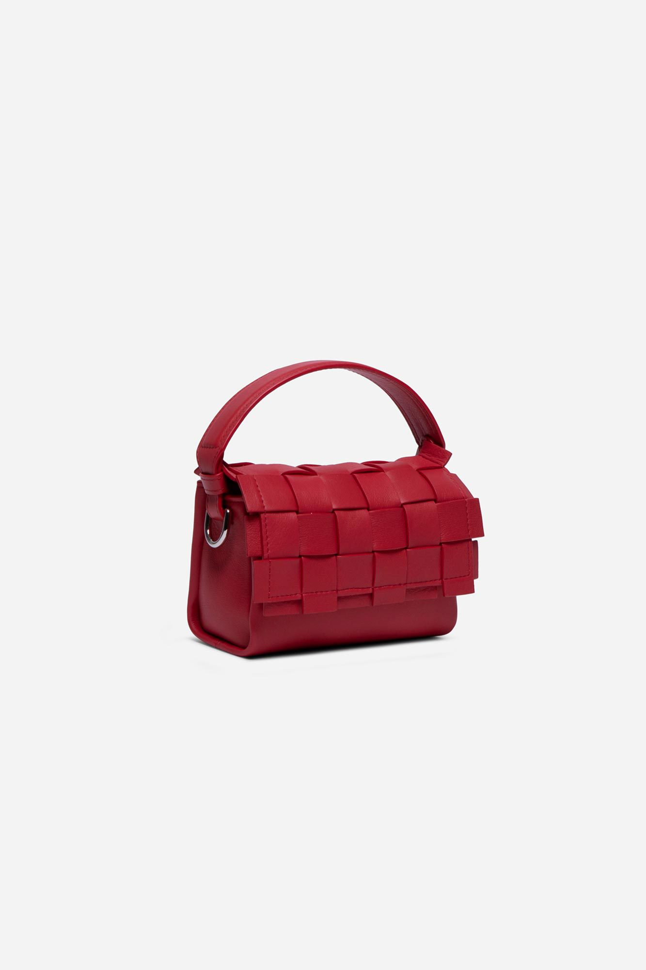 Flap Mini Woven Bag Tomato