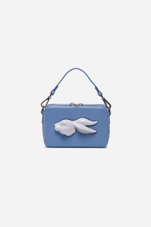 Rectangular Rabbit Head Bag Ciel