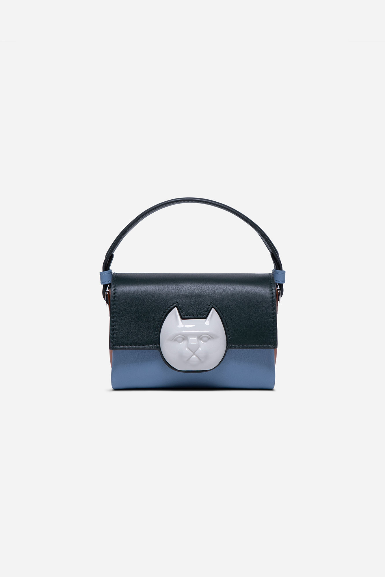 Flap Mini Cat Head Bag Multicolor