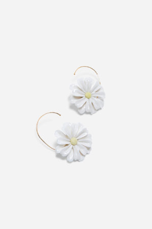 DAISY BIG EARRINGS YELLOW