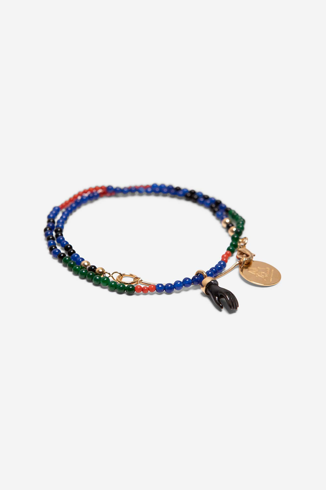 MINI HAND & BEADS NECKLACE