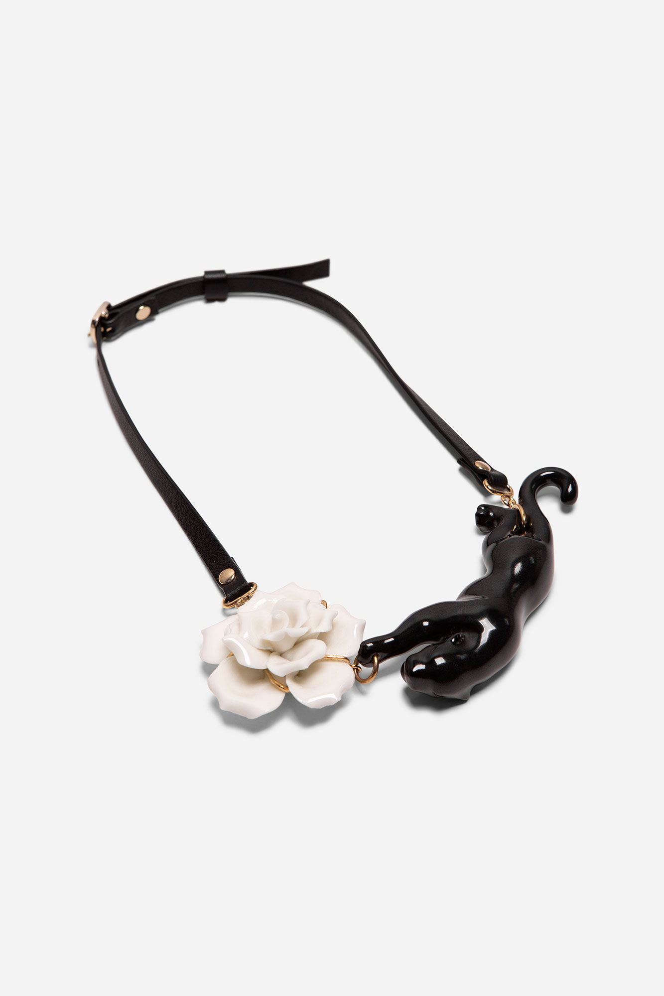 FLOWER PANTHER NECKLACE